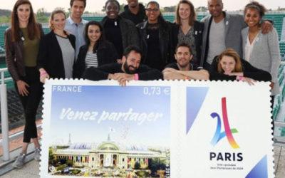 Timbre de commémoration des jeux olympiques de Paris 2024